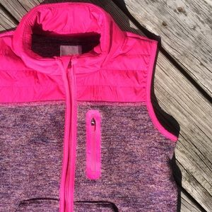 Other - Cat & Jack Girls Hot Pink And Purple Fleece Vest